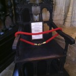 Drake's Chair. Made from Francis Drake's Ship the Golden Hind.