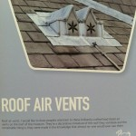 Loved this...a poster about the remarkable lead vents on the roof from the head of building maintenance.