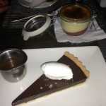 Cassandra and I finished up at Catch for dessert...chocolate and espresso tart with salted carmel sauce and a rhubarb creme brûlée.